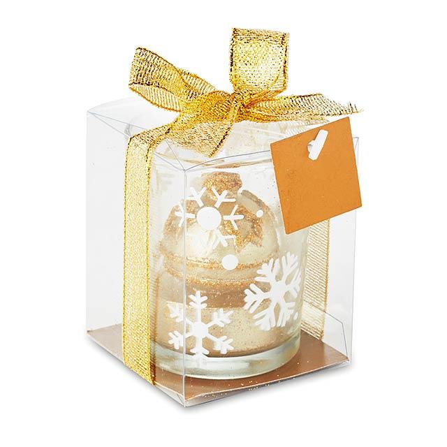 Stojan na čajovou svíčku - GLITTERIE - zlatá