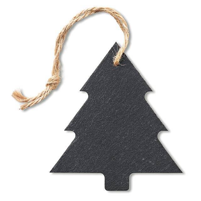 Slate xmas hanger tree  - black