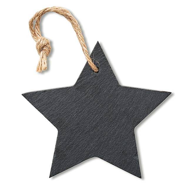 Slate xmas hanger star  - black