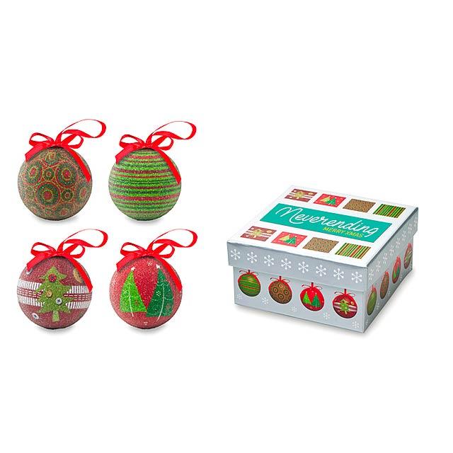 Set vánočních ozdob - SQUARY - multicolor