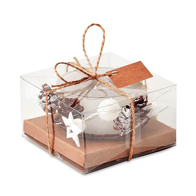 Stojánek na vánoční svíčku - BOUGIE - bílá