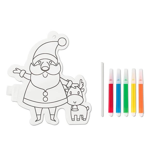Santa Claus colouring balloon  CX1448-06 - white