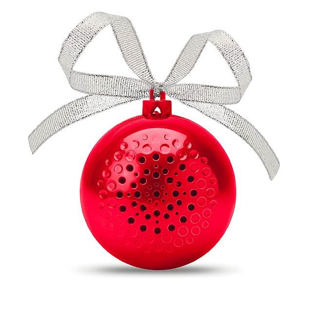 Reproduktor vánoční koule - JINGLE BALL - červená