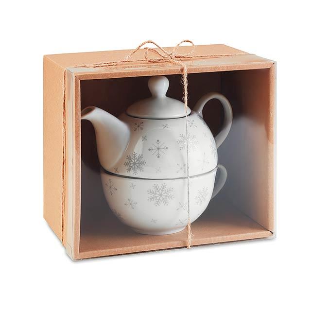 Vánoční čajový set - SONDRIO TEA - šedá