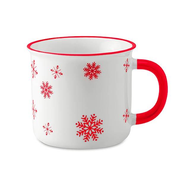Vintage vánoční hrnek - SONDRIO MUG - červená