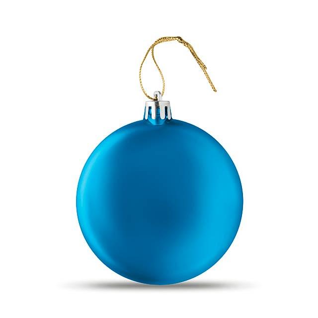 Plochá vánoční koule - LIA BALL - královsky modrá