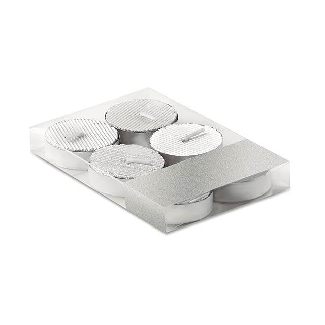 Set of 6 tea lights            CX1457-14 - silver
