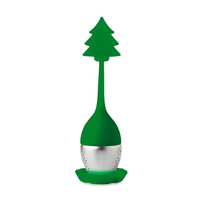 FUNNY TEA - Silikonové čajové filtry       - zelená
