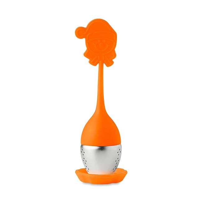 FUNNY TEA - Silikonové čajové filtry       - oranžová