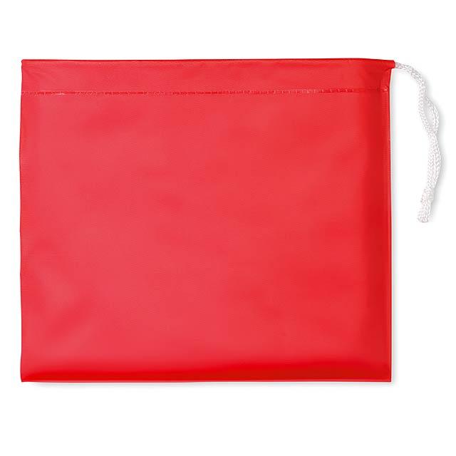 Raincoat - pláštěnka s kapucí - červená