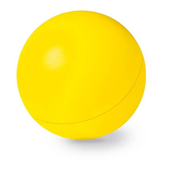 Anti - stresový míček - žlutá