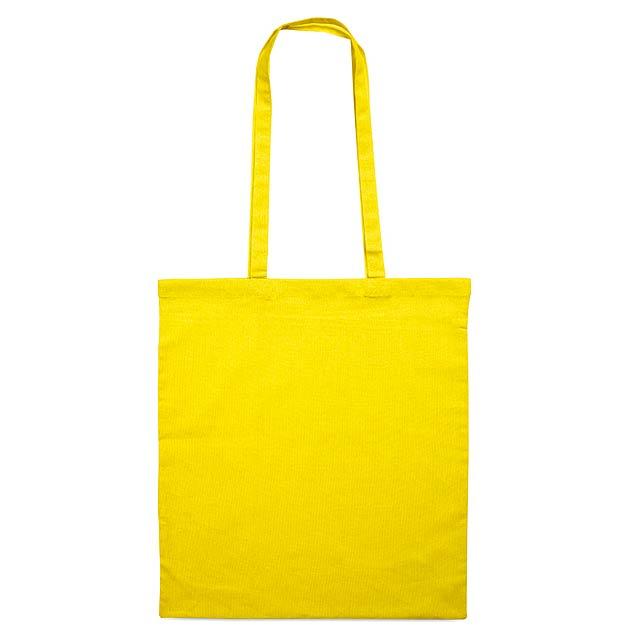 Bavlněná nákupní taška s dlouhými uchy. Materiál 105gr/m². - žlutá - foto