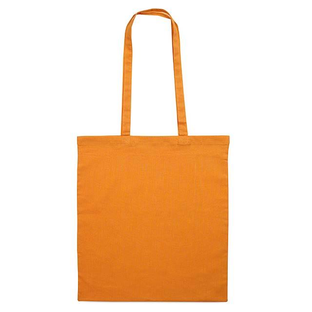 Bavlněná nákupní taška. - oranžová
