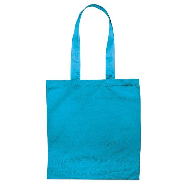 COTTONEL COLOUR - Bavlněná nákupní taška         - tyrkysová