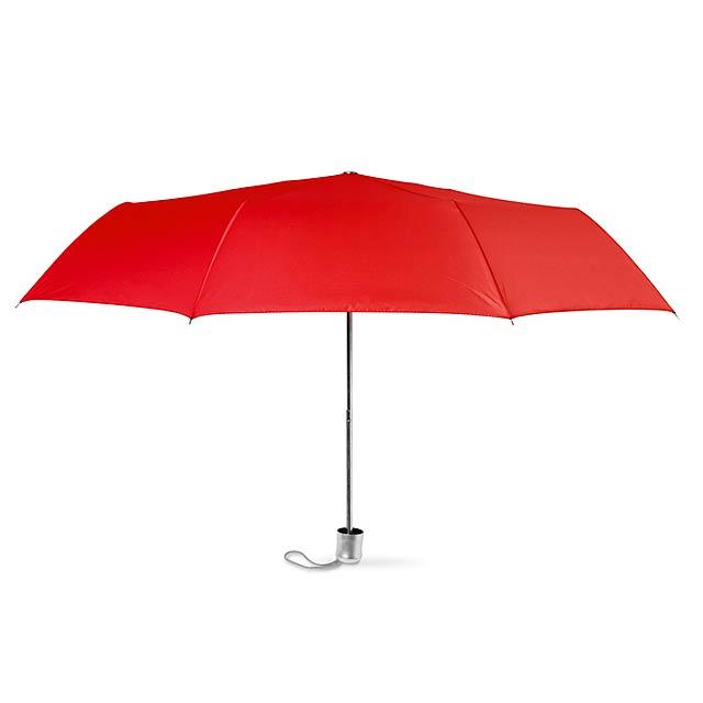 Dámský mini deštník v pouzdře. - červená