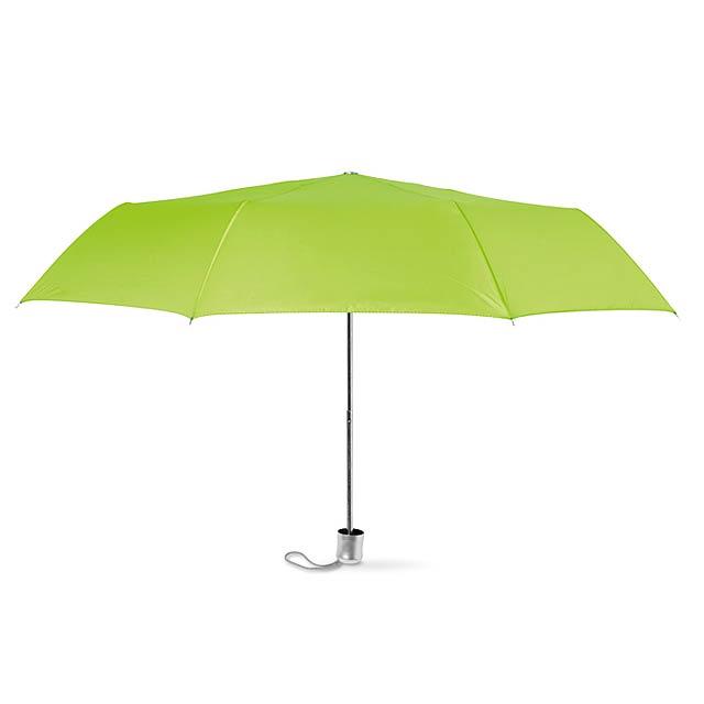 Dámský mini deštník v pouzdře. - citrónová - limetková
