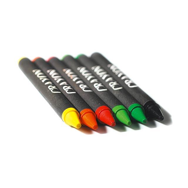 Set - sada voskových pastelek - multicolor