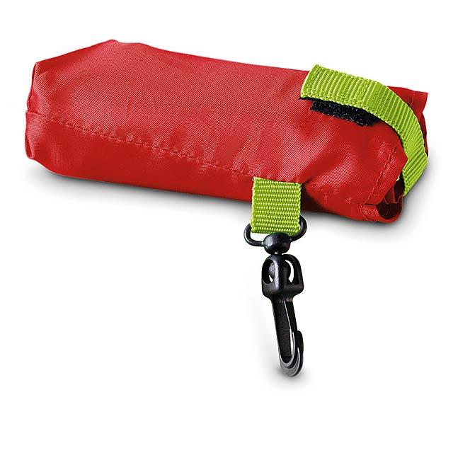 Bread - skládací nákupní taška - červená