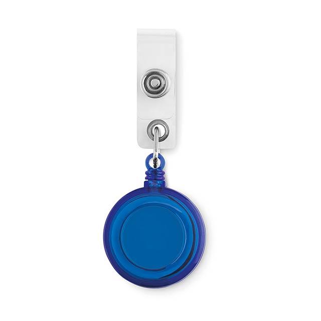 Badge - visačka na jméno, rolovací - modrá