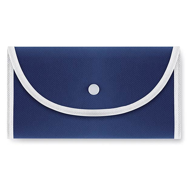 Skládací nákupní taška. Netkaná textílie. 70 gr/m². - modrá - foto