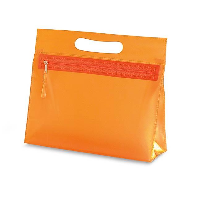 Transparent - kosmetická taštička - oranžová