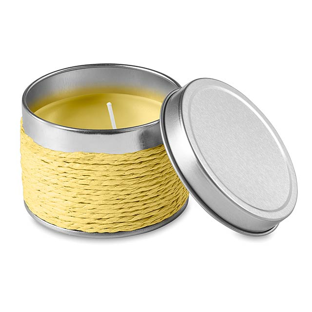 Vonná svíčka  - žlutá