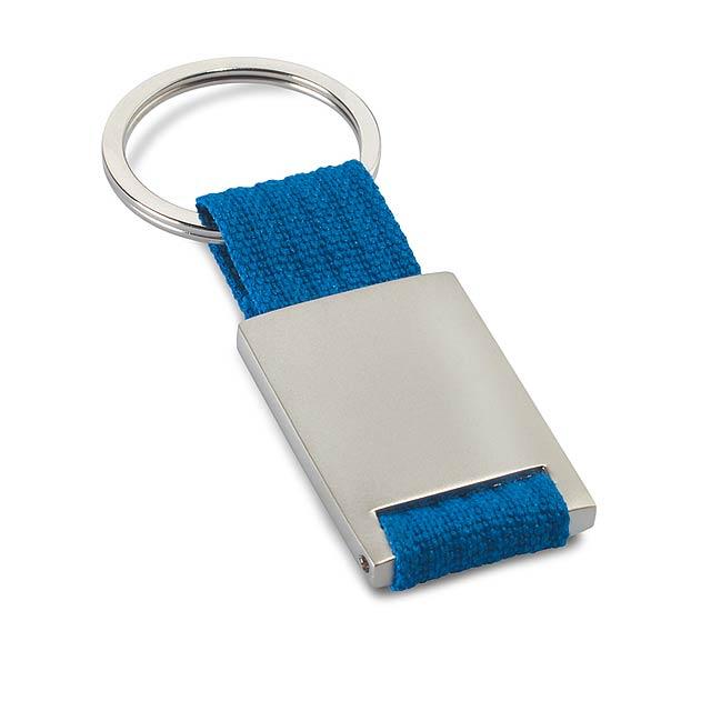 Metal - kovová klíčenka - modrá