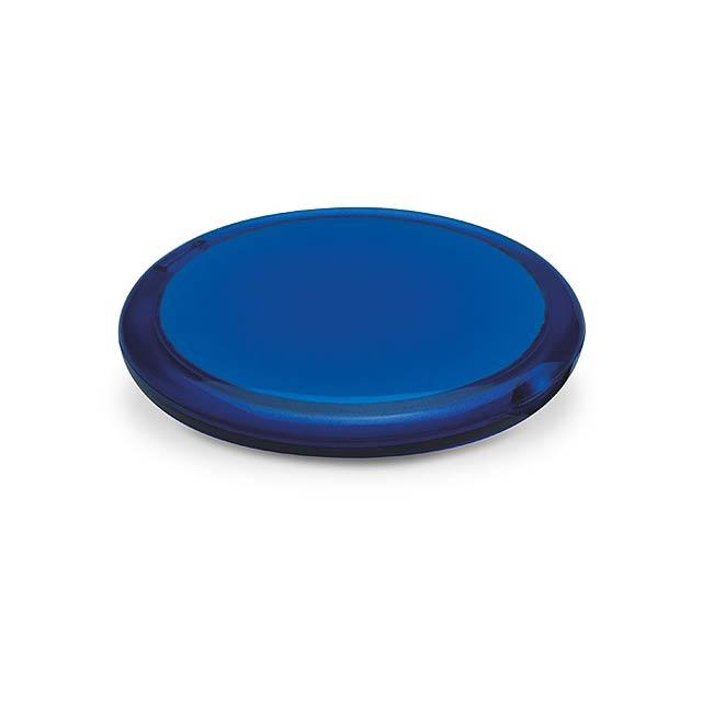Double - dvojité kulaté zrcátko - transparentní modrá