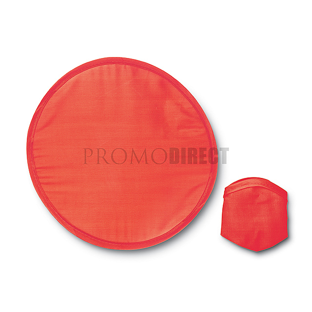 Foldable Frisbee in pouch  - red