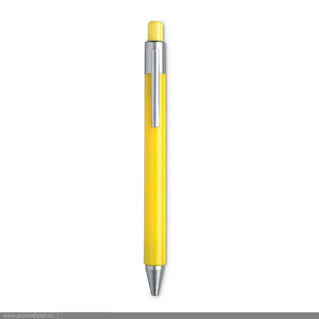 Automatic satin ball pen  - yellow