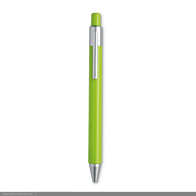 Automatic satin ball pen  - lime