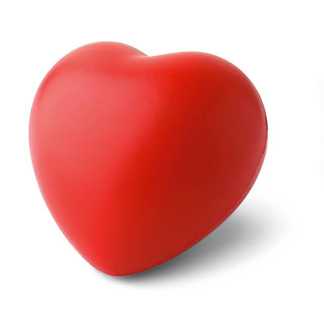 Antistresové srdce - červená