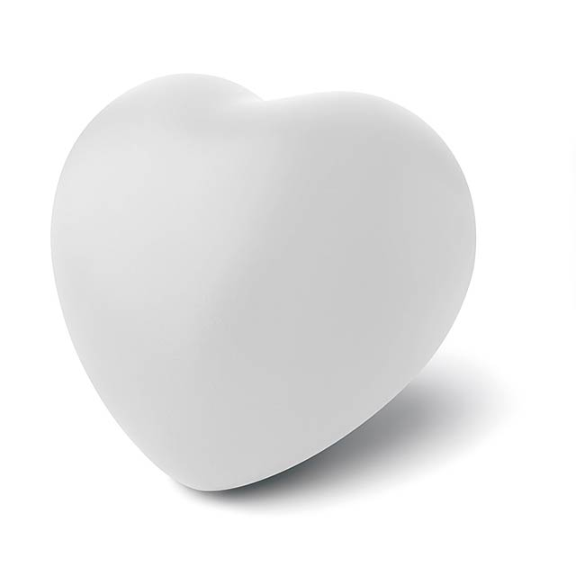 Anti-stress heart PU material - LOVY - bílá