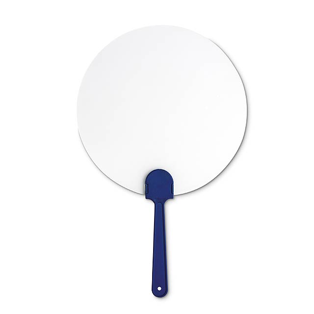 Pay Pay, manual hand fan  - blue
