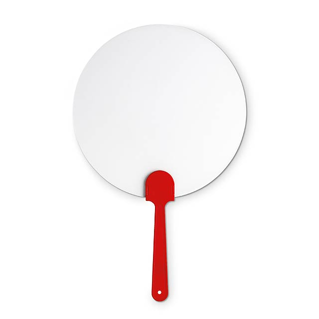 Pay Pay, manual hand fan  - red