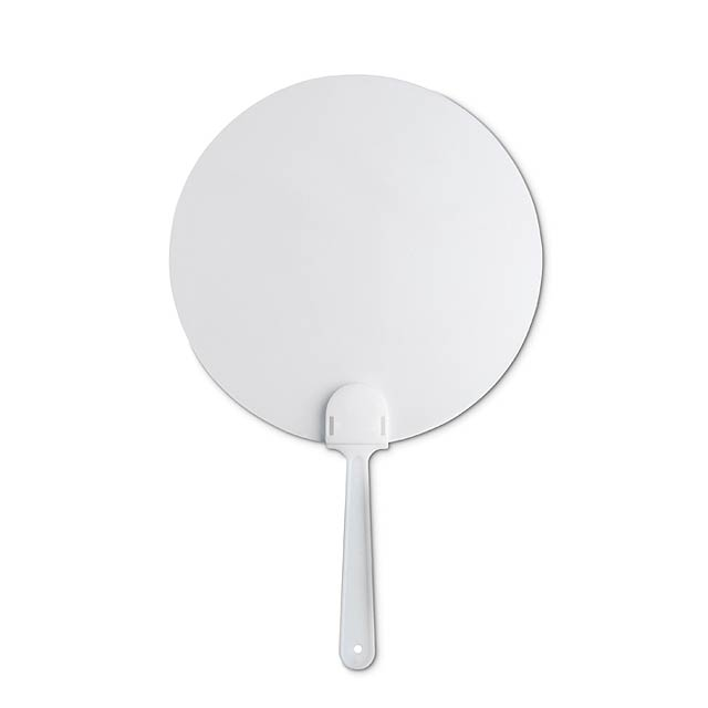 Pay Pay, manual hand fan  - white