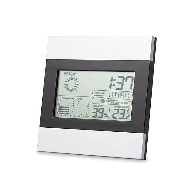 Weatherstation - meteostanice  - stříbrná mat