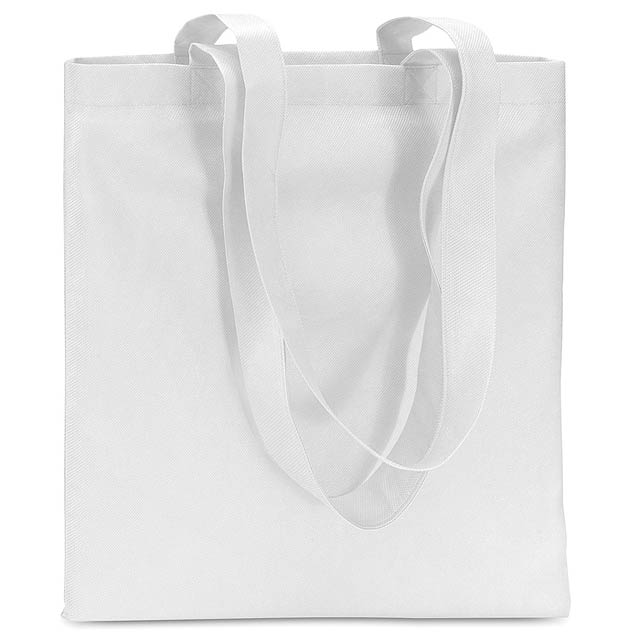 Shopping bag in Non woven  - white