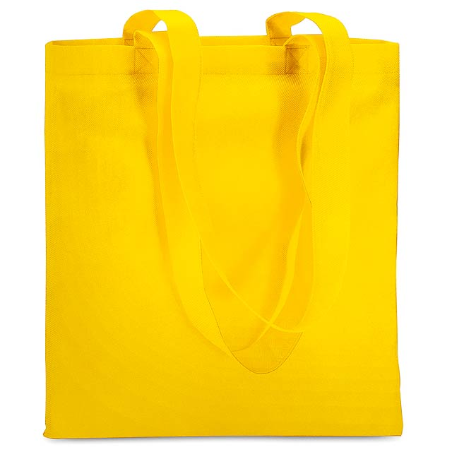 Shopping bag in nonwoven - yellow
