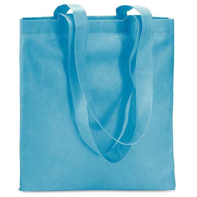 Shopping bag in nonwoven  - turquoise