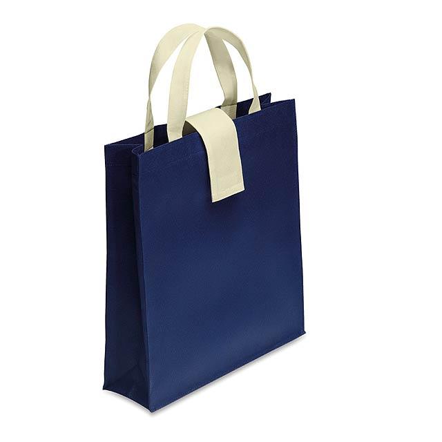 Skládací nákupní taška - modrá