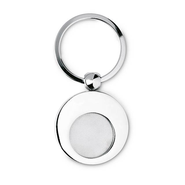 Klíčenka se žetonem kovová - stříbrná lesk