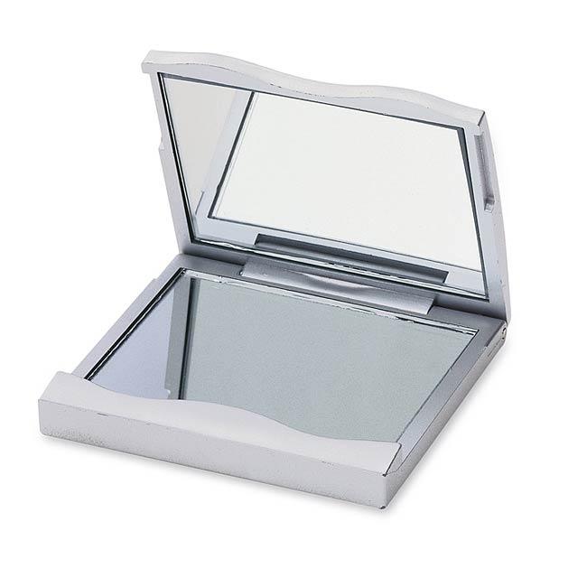Zrcátko na make-up - stříbrná