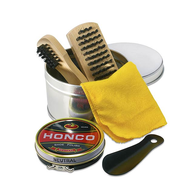 Shoe polish kit  - shiny silver