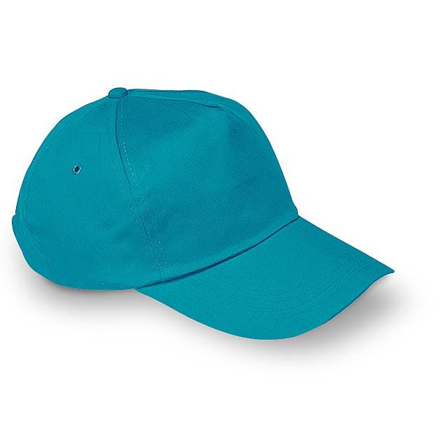 Čepice s kšiltem - GLOP CAP - tyrkysová