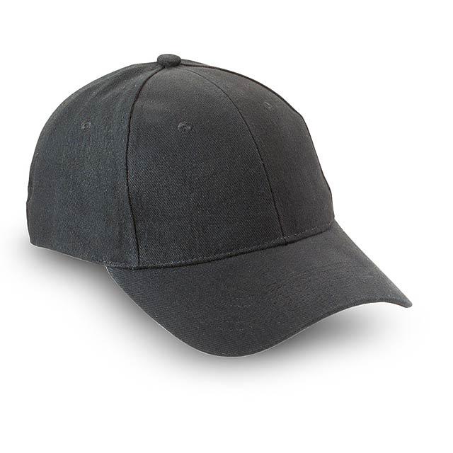 Baseballová čepice s nastavitelným páskem se sponou  - černá - foto