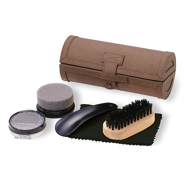 Shoe polish kit  - brown