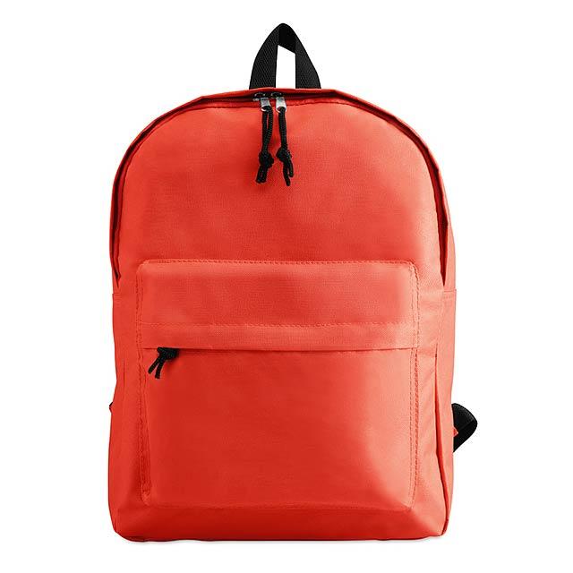 Batoh s vnější kapsou  - červená