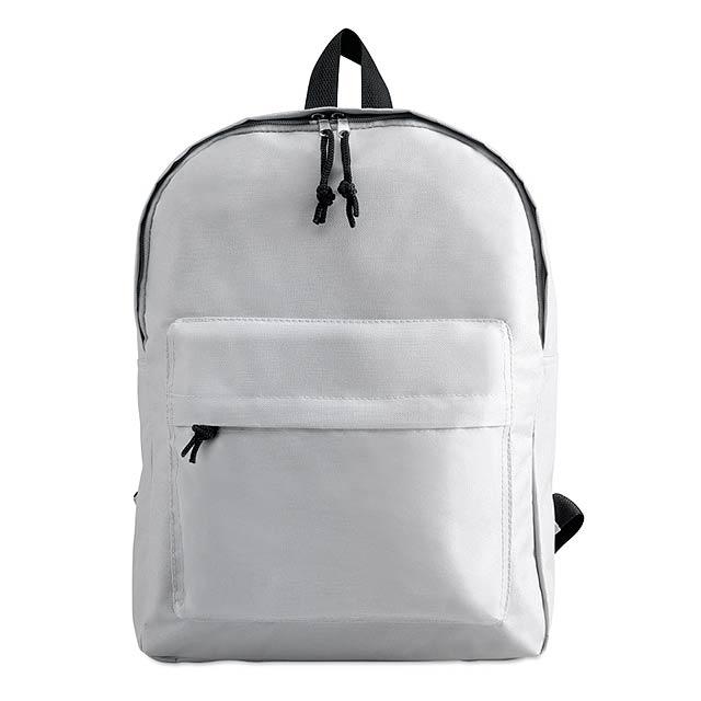 Batoh s vnější kapsou  - bílá