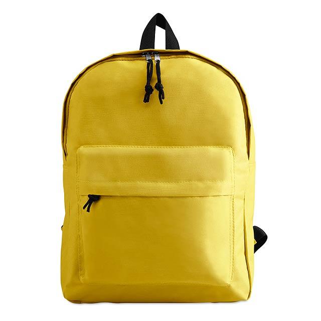 Batoh s vnější kapsou  - žlutá